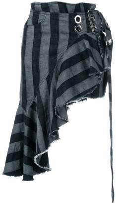 Marques Almeida Marques'almeida asymmetric striped skirt