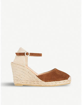 LK Bennett Harrison wedge heel suede sandals