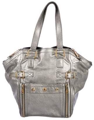 Saint Laurent Metallic Leather Downtown Bag