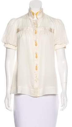Mayle Tassel-Trimmed Button-Up Top