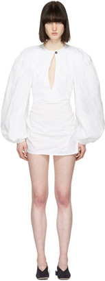 Jacquemus White 'La Blouse' Shirt Dress $825 thestylecure.com