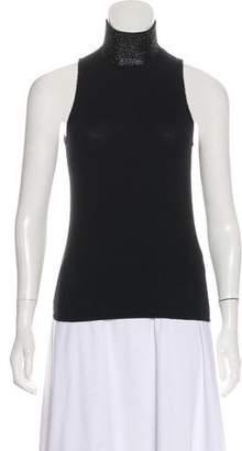 Ralph Lauren Black Label Cashmere Embellished Top