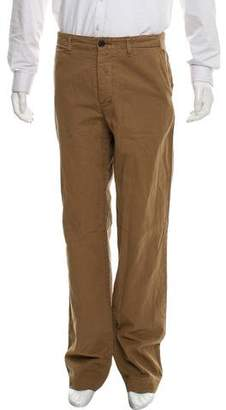 Billy Reid Distressed Flat Front Pants