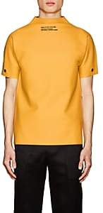 Calvin Klein Men's Logo Latex Shirt-Yellow Size L