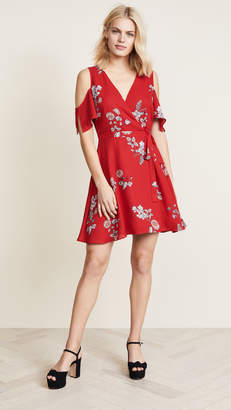 BB Dakota Floral Wrap Dress