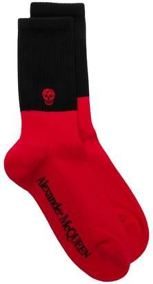 Alexander McQueen two-tone skull socks