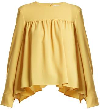 Sonia Rykiel Gathered satin-crepe blouse