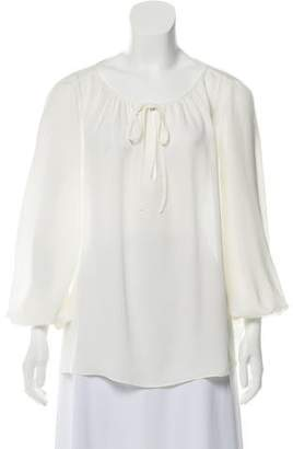 Tamara Mellon Silk Long Sleeve Blouse