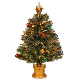 NATIONAL TREE CO National Tree Co. 2 Foot Fireworks Ornament & Top Star Pre-Lit Christmas Tree