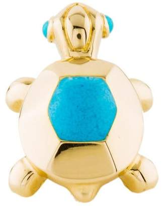 Cartier 18K Turquoise Turtle Lapel Pin