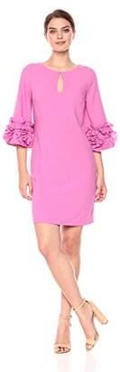 Jax Women's Shift Dress with Rosette Detail Sleeve