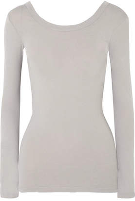 James Perse Skinny Ballet Stretch-cotton Jersey Top - Gray
