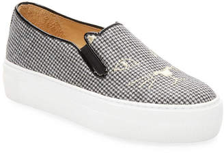 Charlotte Olympia Checkered Platform Sneaker
