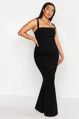 boohoo Plus Square Neck Shape Maxi Dress