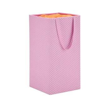 Honey-Can-Do Rectangular Collapsible Hamper with Handles, Pink