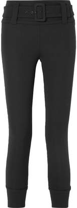 Prada Cropped Tech-jersey Straight-leg Pants - Black