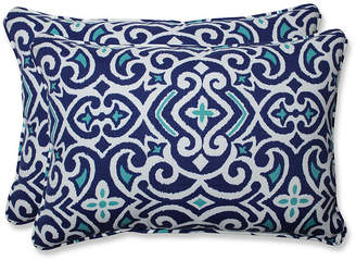 New Damask Marine Over-sized Rectangular Throw Pillow, Set of 2