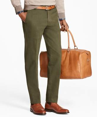 Brooks Brothers Milano Fit Brushed Twill with Stretch Chinos