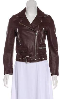 Acne Studios Leather Moto Jacket w/ Tags