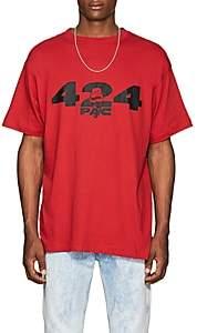 Tupac by 424 Men's Logo- & Fist-Print Cotton Short-Sleeve T-Shirt - Red
