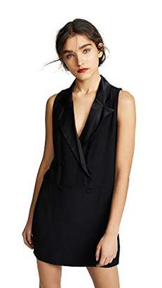 BB Dakota Junior's She Means Business Satin Back Crepe Tuxedo Dress