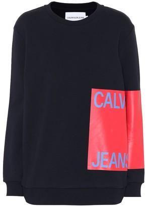 Calvin Klein Jeans Printed cotton sweatshirt