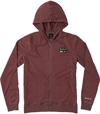 RVCA Men's FOXHOLE Zip UP Hooded Fleece Sweatshirt