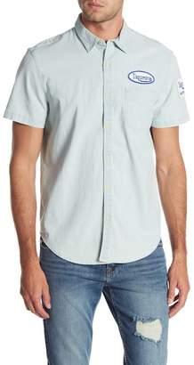Lucky Brand Short Sleeve Print Slim Fit Woven Shirt