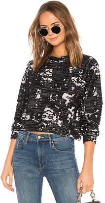 Bobi Destroyed Knit Cropped Sweatshirt