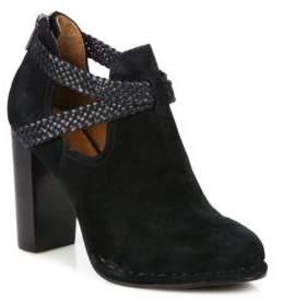 Frye Margaret Braid Suede& Leather Booties