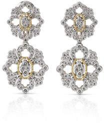 Buccellati Opera 18k Pave Diamond Double-Drop Earrings