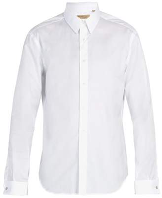 Burberry Modern Fit Double Cuff Cotton Oxford Shirt - Mens - White