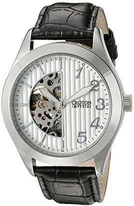Croton Men's CI331081SSSL Analog Display Chinese Automatic Black Watch