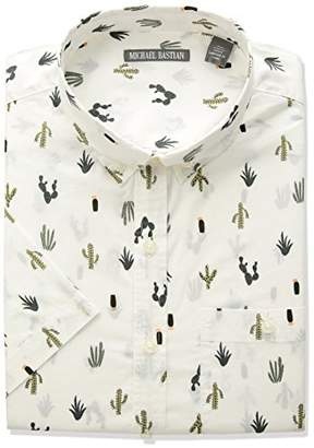 Michael Bastian Men's Short Sleeve Cactus Print Shirt