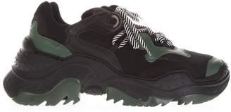 N°21 N.21 Billy Black & Green Running Sneakers