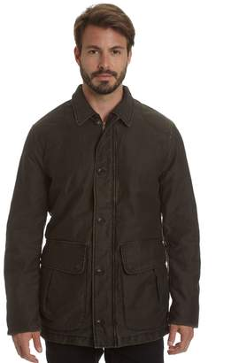Haggar Men's Garment-Washed Barn Coat