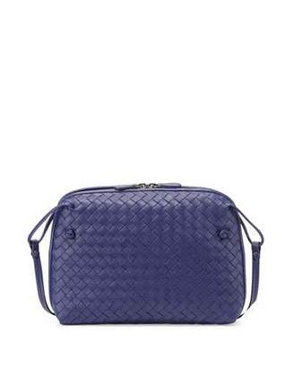 Bottega Veneta Intrecciato Small Zip Crossbody Bag, Cobalt Blue $1,580 thestylecure.com