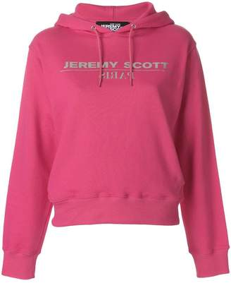 Jeremy Scott logo hooded sweatshirt