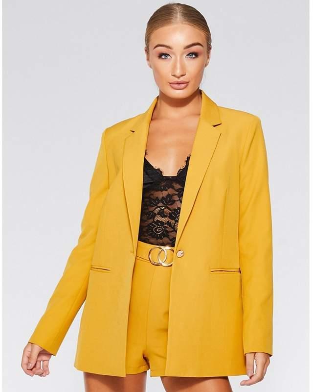 Olivia's Mustard Woven Long Sleeves Suit Jacket