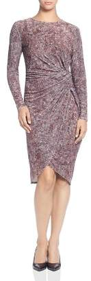 T Tahari Animal Print Velvet Twist Dress