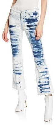 Stella McCartney Tie-Dye Skinny Kick-Back Jeans