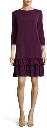ECI Aline Ruffle Trim Shift Dress