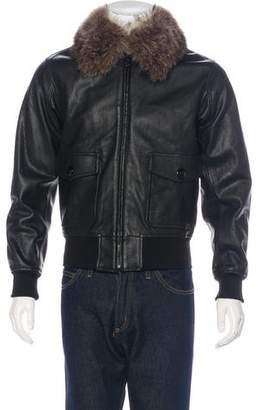 Givenchy Fur-Trimmed Leather Jacket