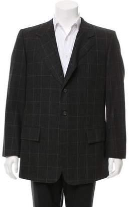 Valentino Wool Windowpane Blazer