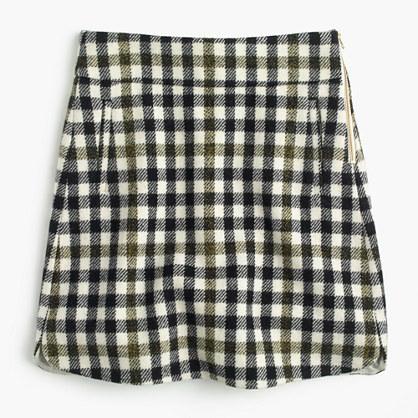 J.CrewMini skirt in oxford check