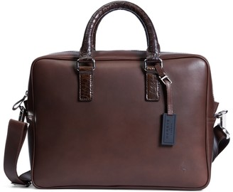Brooks Brothers Harrys Of London Alligator Trim Briefcase