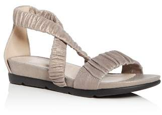 Eileen Fisher Women's Dylan Metallic Suede Demi Wedge Sandals