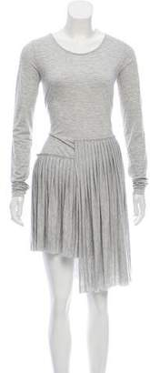 MM6 MAISON MARGIELA Long Sleeve Knit Dress