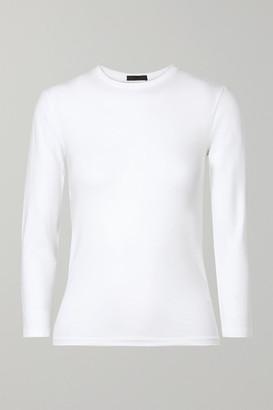 ATM Anthony Thomas Melillo Stretch-pima Cotton Jersey Top - White