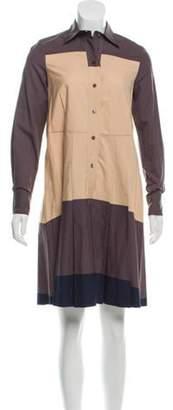 Marni Collared Shirt Dress Brown Collared Shirt Dress
